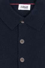 Cashmere Strickpolo in Navy