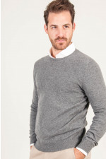 Pullover aus Cashmere in Grau