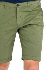 Shorts LENNYBE mit Stitching in Oliv