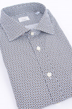 Baumwollhemd in Blau/Weiß