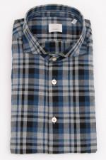 Hemd mit Karo Muster in Grau/Blau