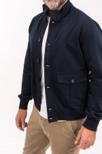 Jacke mit aufgesetzten Taschen in Navy