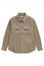 Overshirt aus Cord in Sand