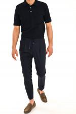 Sportive Hose mit Bundfalten in Midnight
