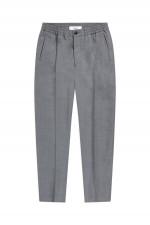 Hose aus Woll-Mix in Grau