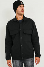 Jacke mit aufgesetzten Taschen in Schwarz