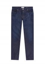 Jeans mit Kontrast-Nähten in Dunkelblau