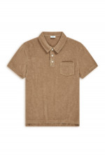 Frottee Polo in Toffee