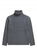 Pullover mit Turtleneck in Grau