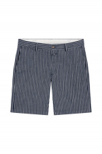Gestreifte Chino Shorts in Dunkelblau