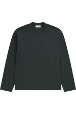 Rundhals Sweater in Waldgrün