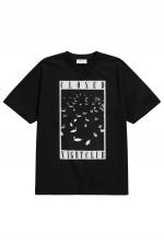 T-Shirt mit Druck in Schwarz