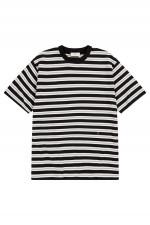 Gestreiftes T-Shirt in Schwarz/Weiß/Beige