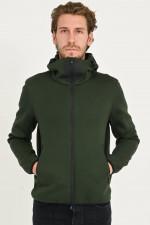 Fleece Jacke in Piniengrün