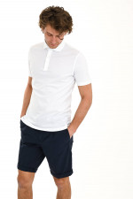 Jersey-Poloshirt in Weiß