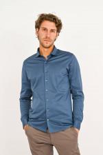 Jerseyhemd in Blau