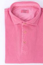 Polo mit Vintagewaschung in Pink