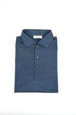 Jerseyhemd in Mittelblau