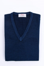 Schurwolle Pullover in Midnight