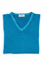 Leichter Pullover in Himmelblau