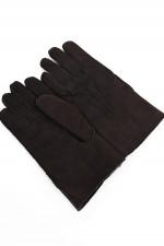 Handschuhe aus Ziegen Leder in Dunkelbraun