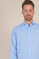 Hemd aus Baumwolle in Hellblau