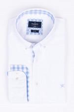 Hemd mit Kontras-Details in Weiß