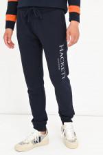Sweatpants mit Label-Schriftzug in Navy