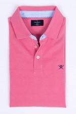 Poloshirt mit dezentem Korallenmuster in Rosé-Pink