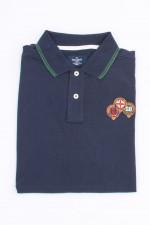 Polo-Shirt mit englischen Stickerein in Navy
