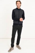 Jacke aus Merino Wolle in Navy