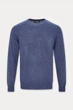 Pullover mit Rundhals in Blau