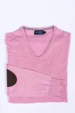 Pullover mit V-Ausschnitt in Rosa