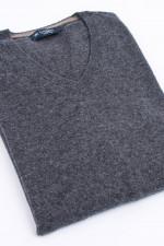 Pullover mit V-Ausschnitt in Anthrazit
