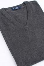 Feinstrick-Pullover in Graugrün