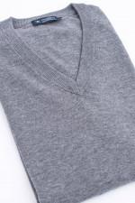 Pullover mit V-Ausschnitt in Grau