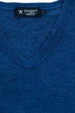 Pullover aus Merino-Seiden-Mix in Blau