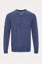 Pullover mit V-Ausschnitt in Blau
