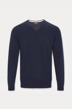 Pullover mit V-Neck in Navy