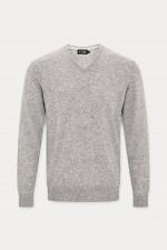 Pullover mit V-Neck in Grau