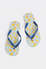 Flip Flop in Hellblau/Gelb