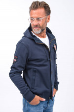 Sweatjacke in Navy