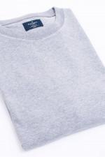 Sweater mit Rundhals in Grau