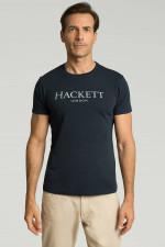 T-Shirt mit Logo-Schriftzug in Navy