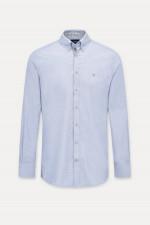 Hemd mit Button-Down Kragen in Hellblau