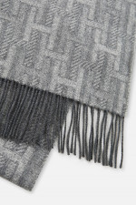 Schal aus Kaschmir-Mix in Grau