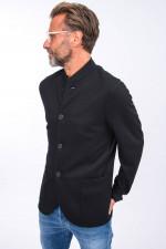 Schurwoll-Jacke in Schwarz