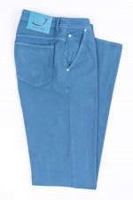Hose aus Baumwollstretch in Hellblau