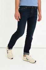 Jeans mit Kontrast-Naht in Dunkelblau