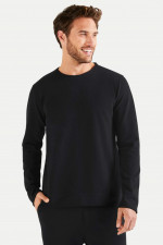 Sweater aus Baumwoll-Mix in Schwarz